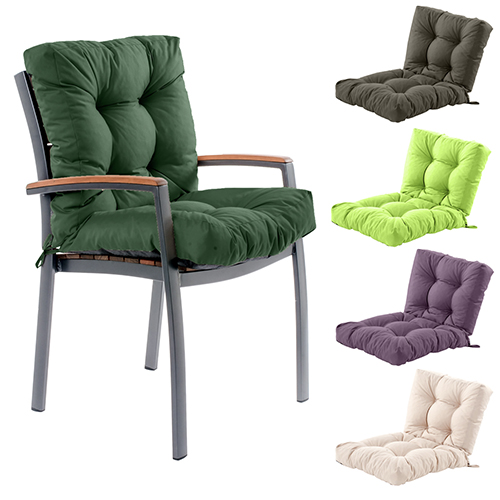 outdoor garden chair tufted seat high back cushion pad. Black Bedroom Furniture Sets. Home Design Ideas