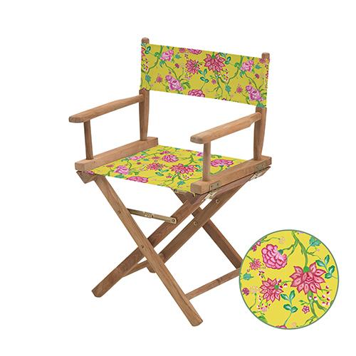 Chintz jaune Directors Chair Remplacement Eau Résistant Toile Couvre Jardin