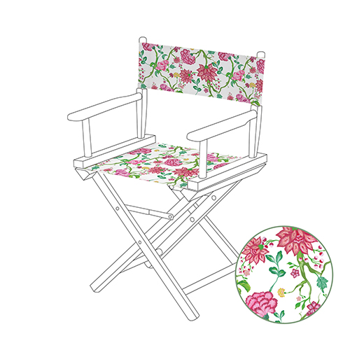 Printed Directors Chair Replacement Waterproof Canvas