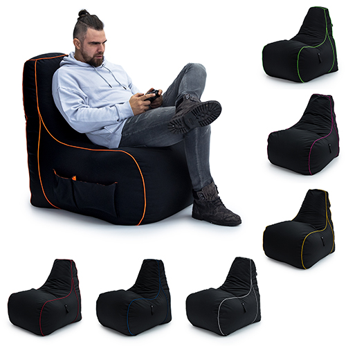 Loft 25 174 Game Over Gaming High Back Chair Bean Bag Large