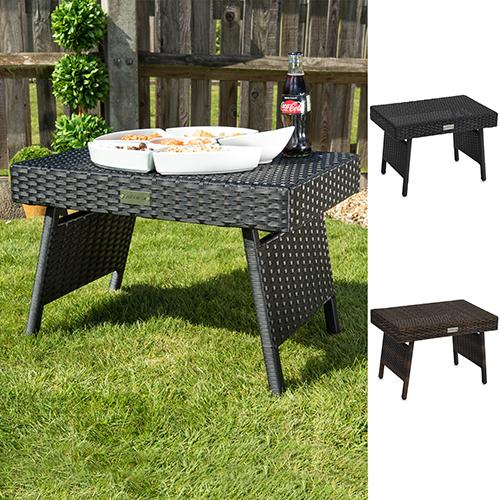 Folding Wicker Rattan Side Coffee Table