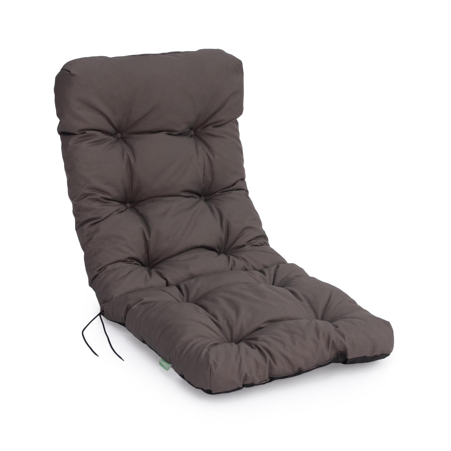 Image of: Grey Replacement High Back Dining Chair Cushion Thick Padded Garden Outdoor Ebay
