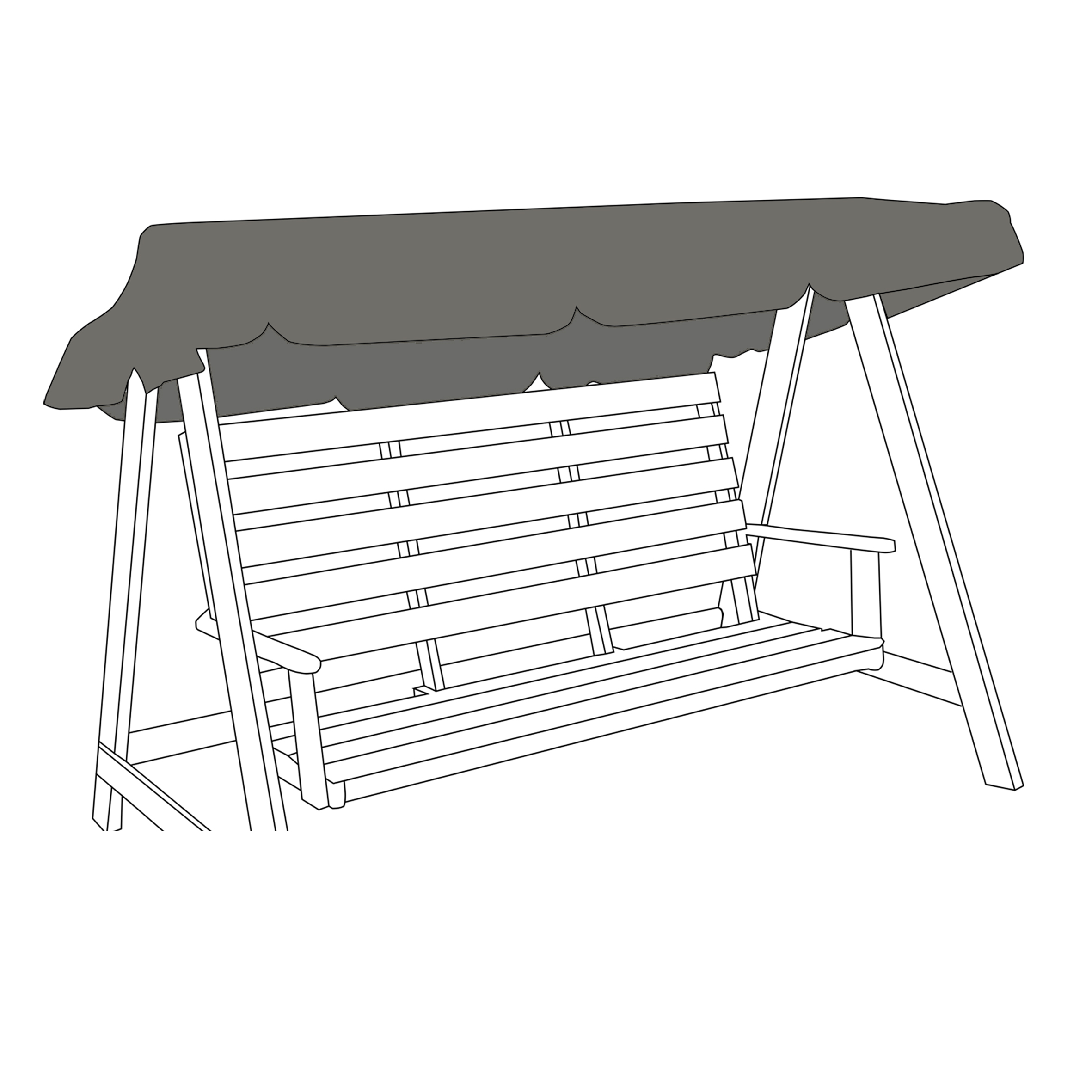 Universal-Water-Resistant-2-3-Seater-Garden-Swing-Seat-Replacement-Canopy-Cover thumbnail 5