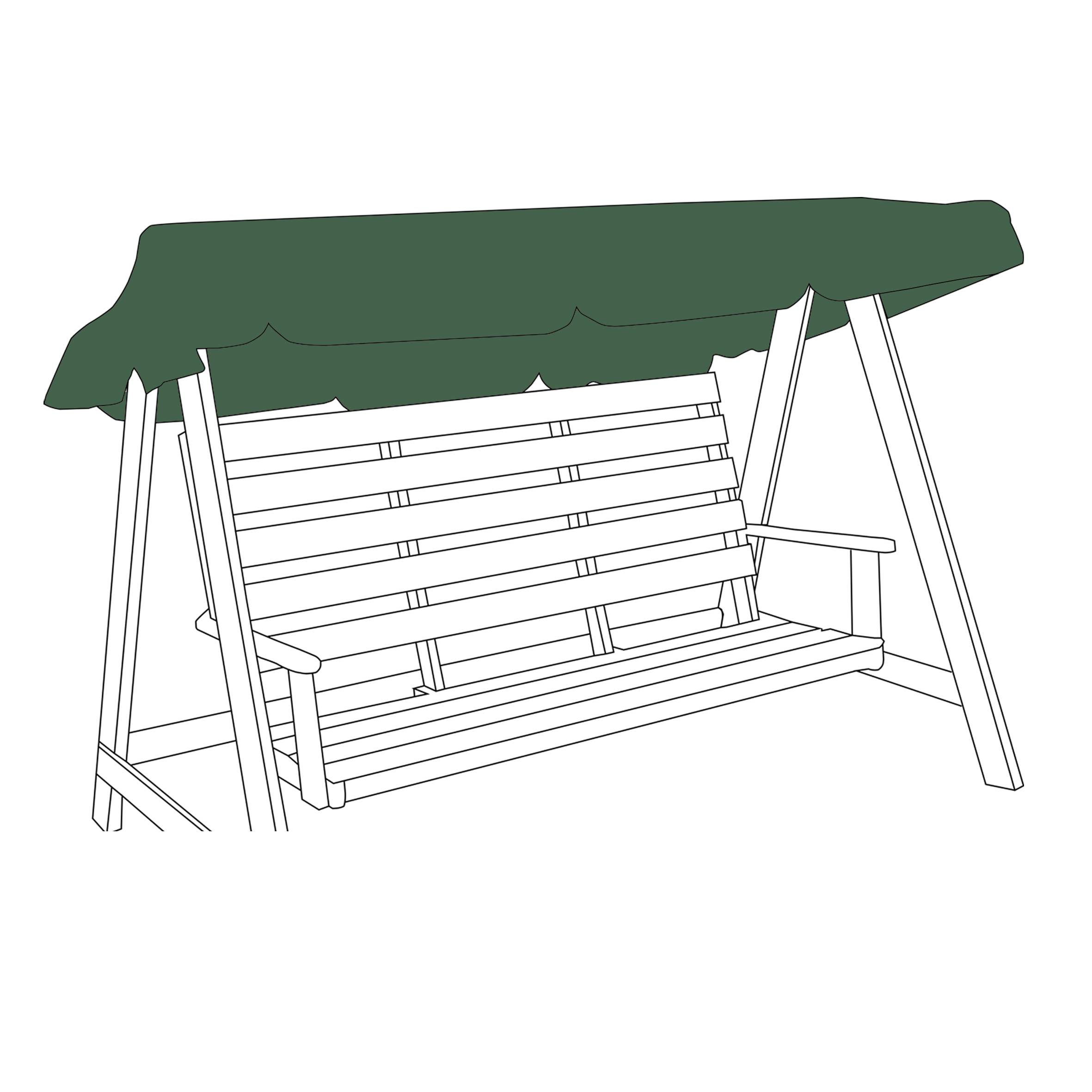 Universal-Water-Resistant-2-3-Seater-Garden-Swing-Seat-Replacement-Canopy-Cover thumbnail 3
