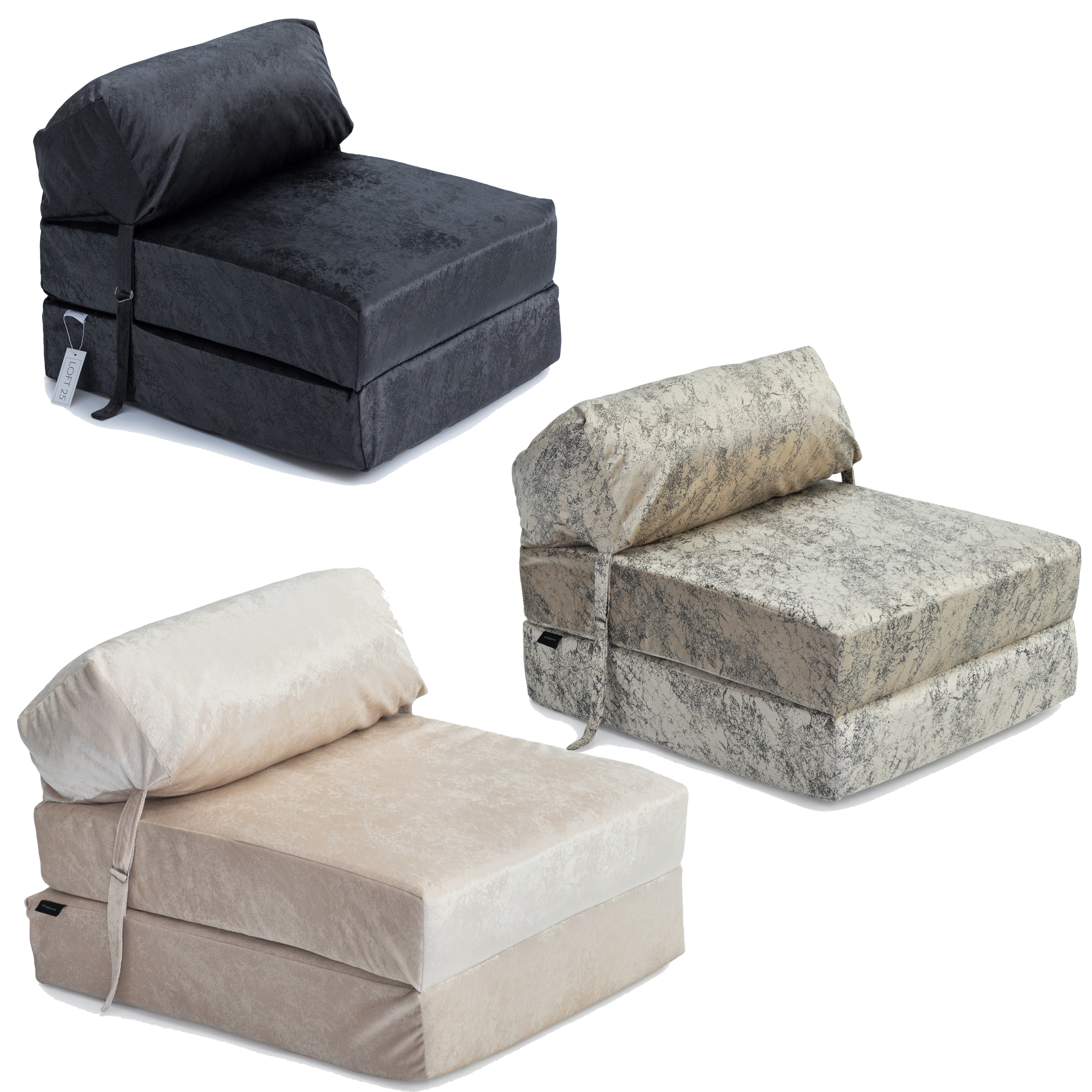 Phenomenal Details About Crushed Velvet Single Chair Bed Sofa Zbed Mattress Seat Foam Fold Out Guest Gmtry Best Dining Table And Chair Ideas Images Gmtryco