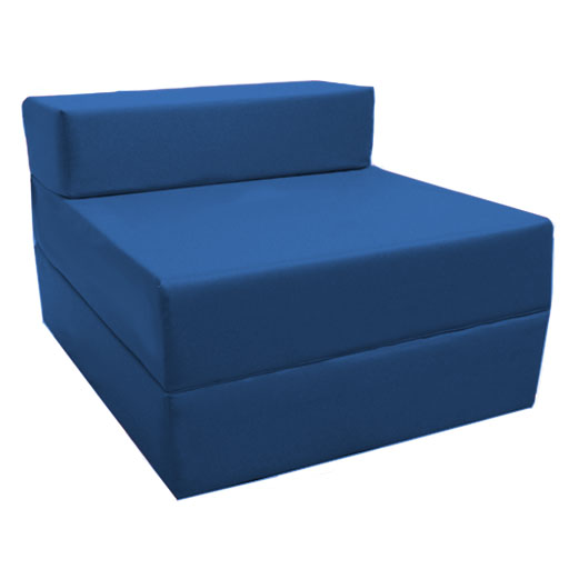 Fold Out Foam Guest Z Bed Chair Waterproof Sleep Over In
