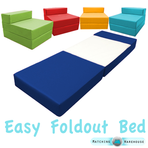 Fold Out Foam Guest Z Bed Chair Waterproof Sleep Over In or Outdoor Futon Single  sc 1 st  eBay & Fold Out Foam Guest Z Bed Chair Waterproof Sleep Over In or Outdoor ...