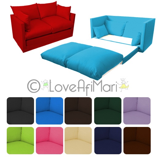 Fold Out 2 Seater Kids Teens Sofa Sofabed Guest Bed Futon  : CSB JP Multi LAM from www.ebay.co.uk size 512 x 512 jpeg 131kB