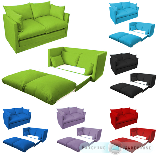 Red Futon Mattress Kids Children's Sofa Foldout Z Bed Boys Girls Seating Seat ...