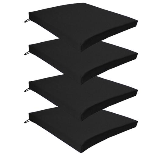 Black Kitchen Seat Pads
