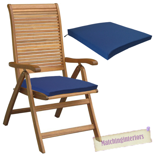 blue outdoor indoor home garden chair floor seat cushion pads only multipacks ebay. Black Bedroom Furniture Sets. Home Design Ideas