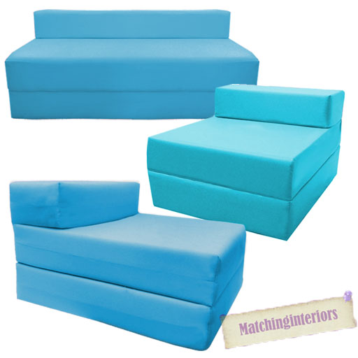Aqua Fold Out Guest Sofa Z Bed Sleeping Mattress Studio ...