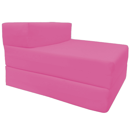 Pink Fold Out Guest Sofa Z Bed Sleeping Mattress Studio