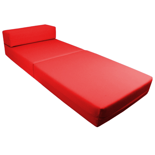 Red Fold Out Guest Sofa Z Bed Sleeping Mattress Studio ...