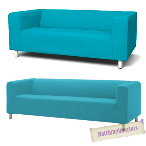 Details about Aqua Cover Slipcover to fit IKEA KLIPPAN 2 or 4 Seater Sofa Settee Replacement