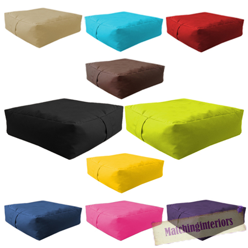 waterproof bean bag slab outdoor indoor garden cushion seat furniture multipacks ebay. Black Bedroom Furniture Sets. Home Design Ideas