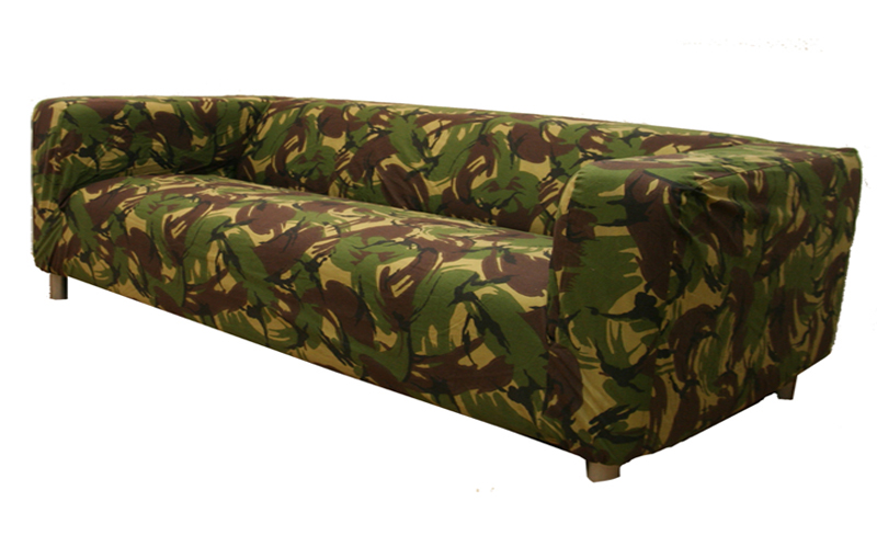 Beautiful Custom Cover Slipcover To Fit Klippan 4 Seater Sofa Settee. Camo Sofa Covers