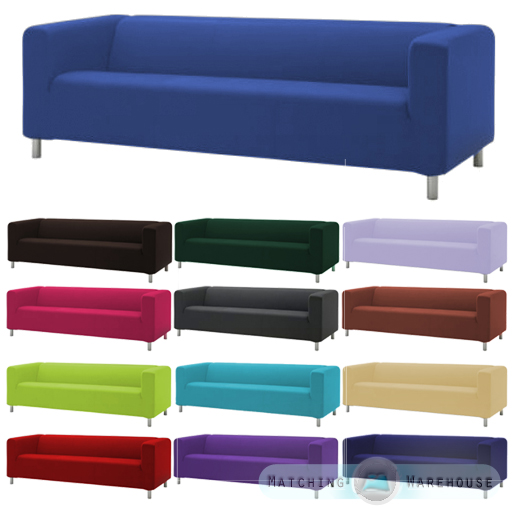 housse pour ikea klippan 4 canap places coton serg jet de lit sofa ebay. Black Bedroom Furniture Sets. Home Design Ideas