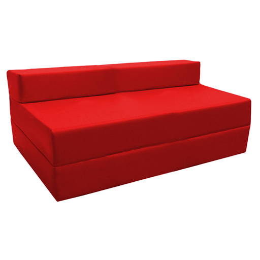 Red fold out guest sofa z bed sleeping mattress studio for Fold out sofa bed for sale