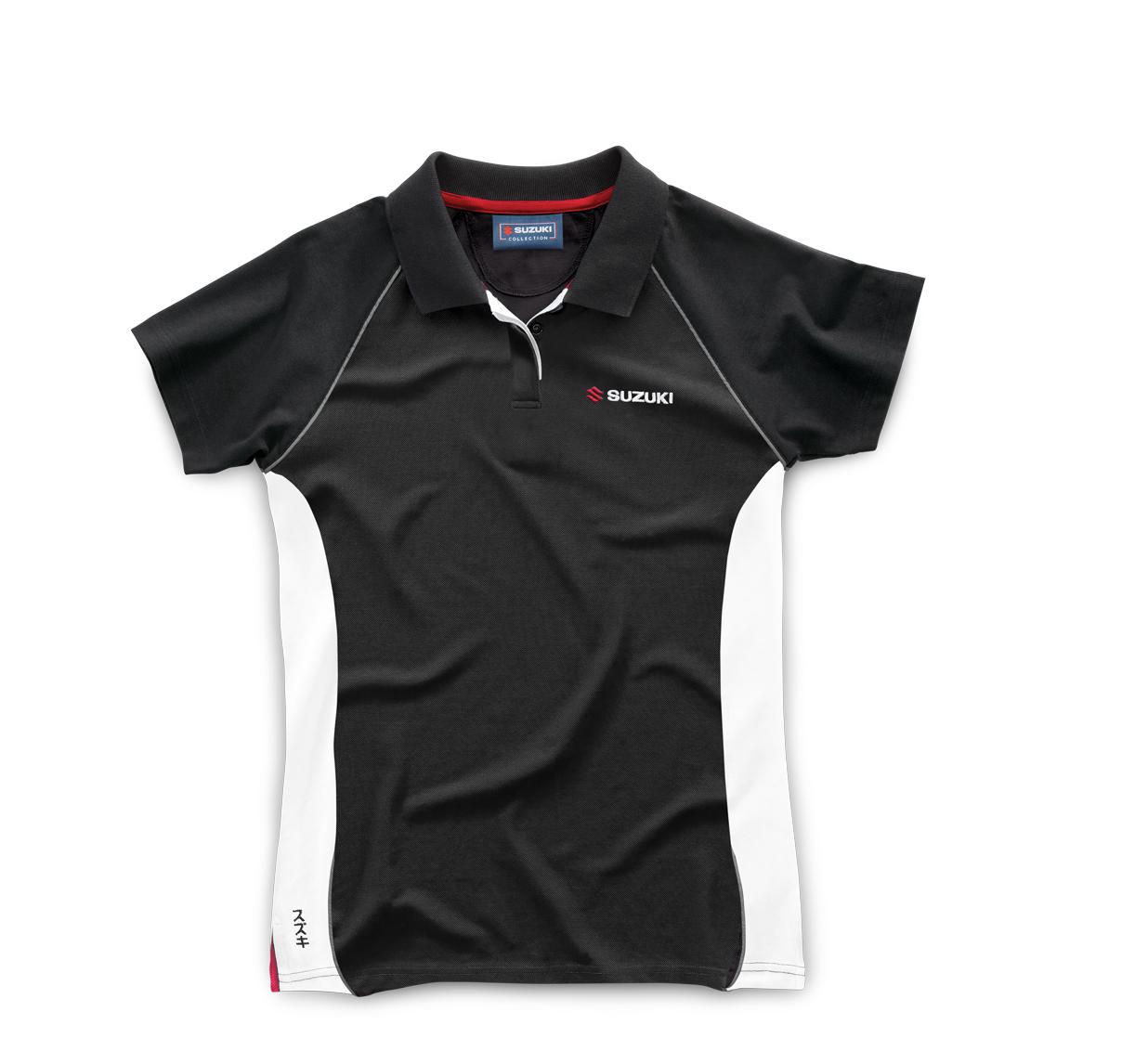 Genuine Suzuki Women/'s Polo Cotton//Elastane  Shirt
