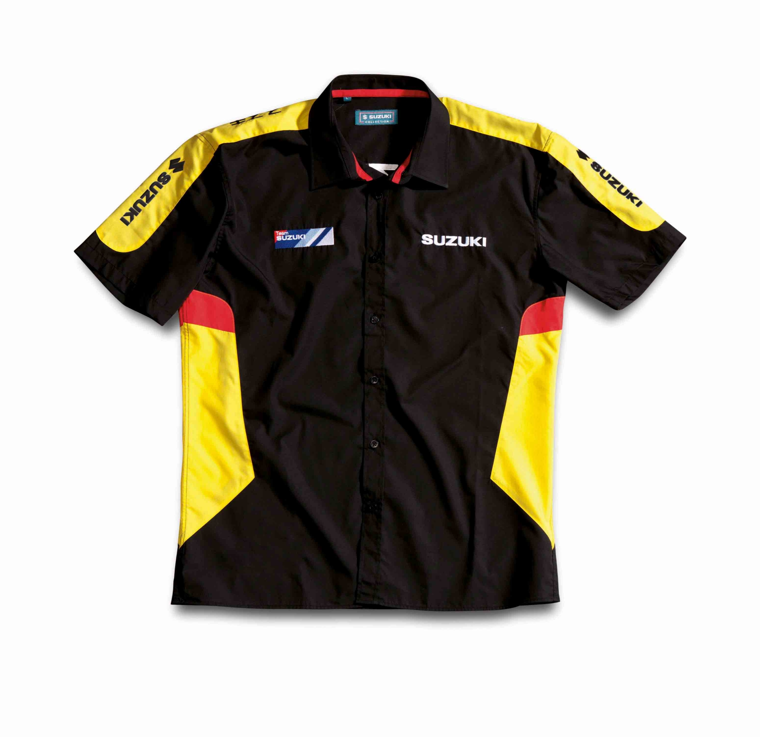 Genuine Suzuki Logo Team Wear on Up Mens Shirt Top Black ...