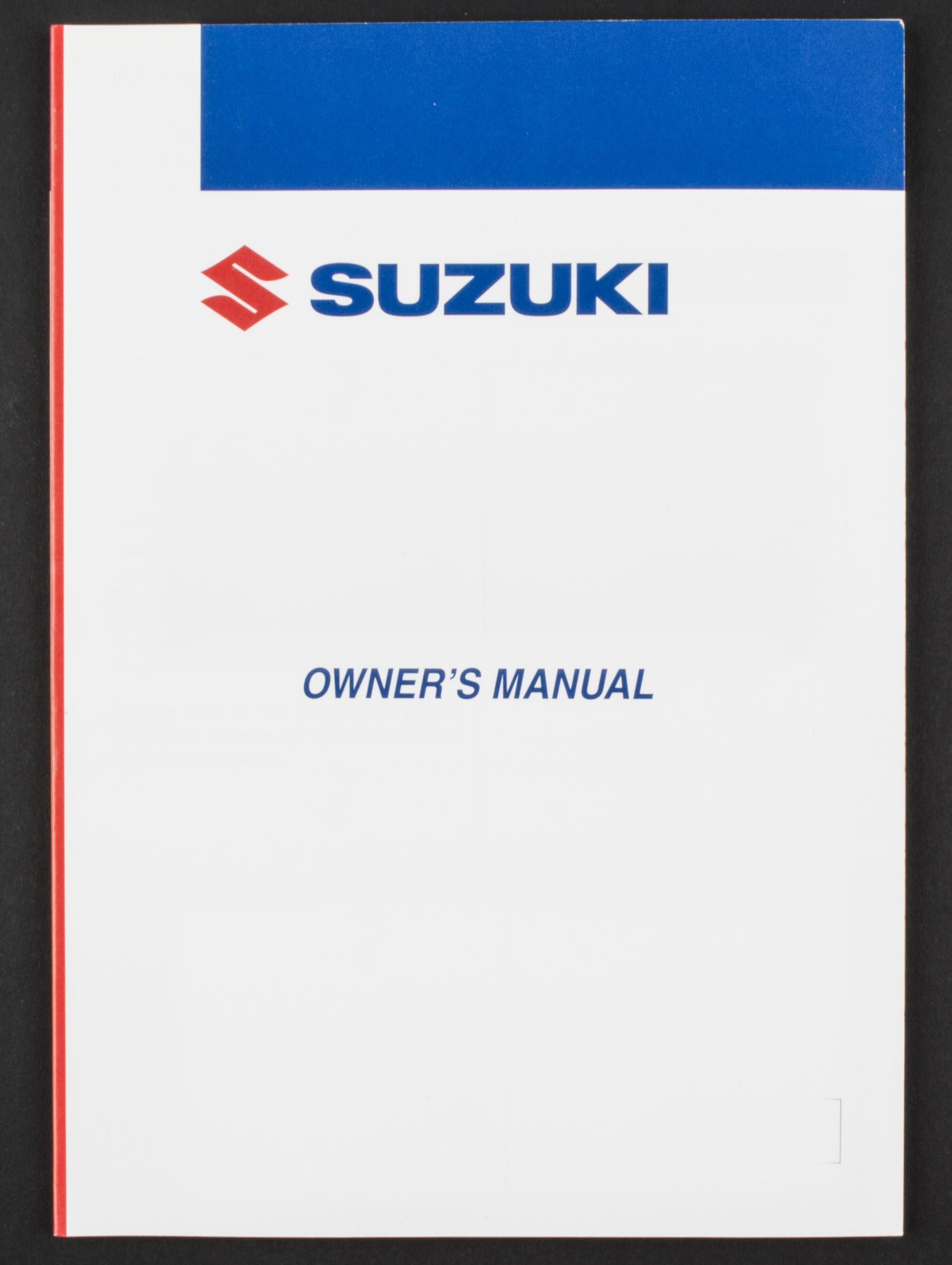 Sentinel Genuine Suzuki ATV Owners Manual For LT-Z250 (2008) 99011-21G55-