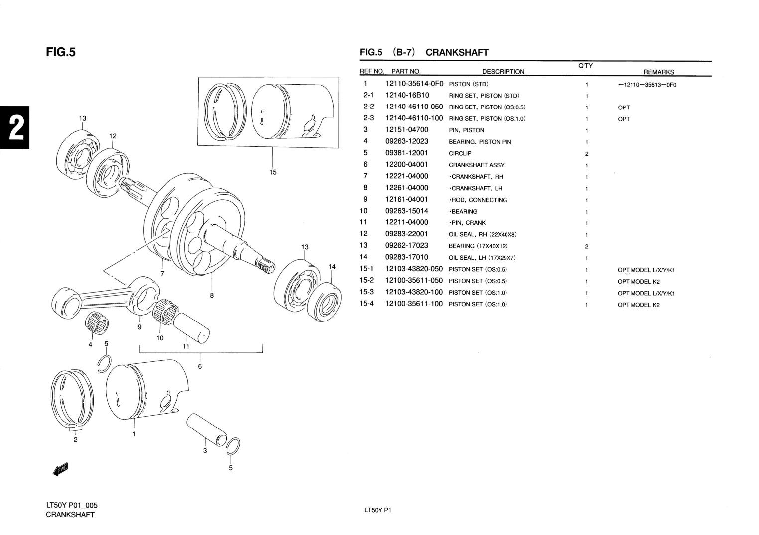 Genuine Suzuki Lt50 Mini Atv Quad Crankshaft Crank Pin
