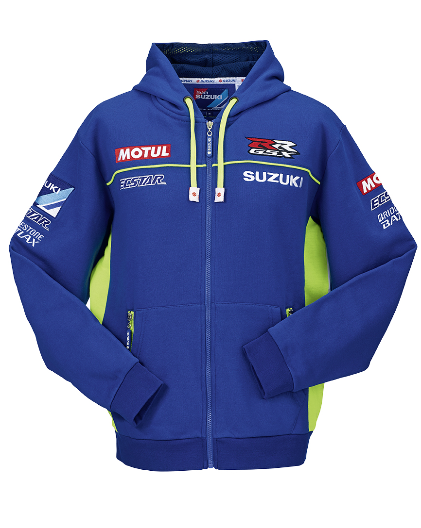 Genuine Suzuki MotoGP 2015 Ecstar Adult Hooded Team Sweat Shirt Long Sleeved | eBay