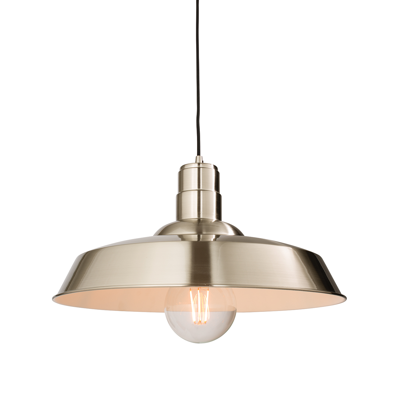 Endon Moore pendant 1x 60W Gloss nickel plate
