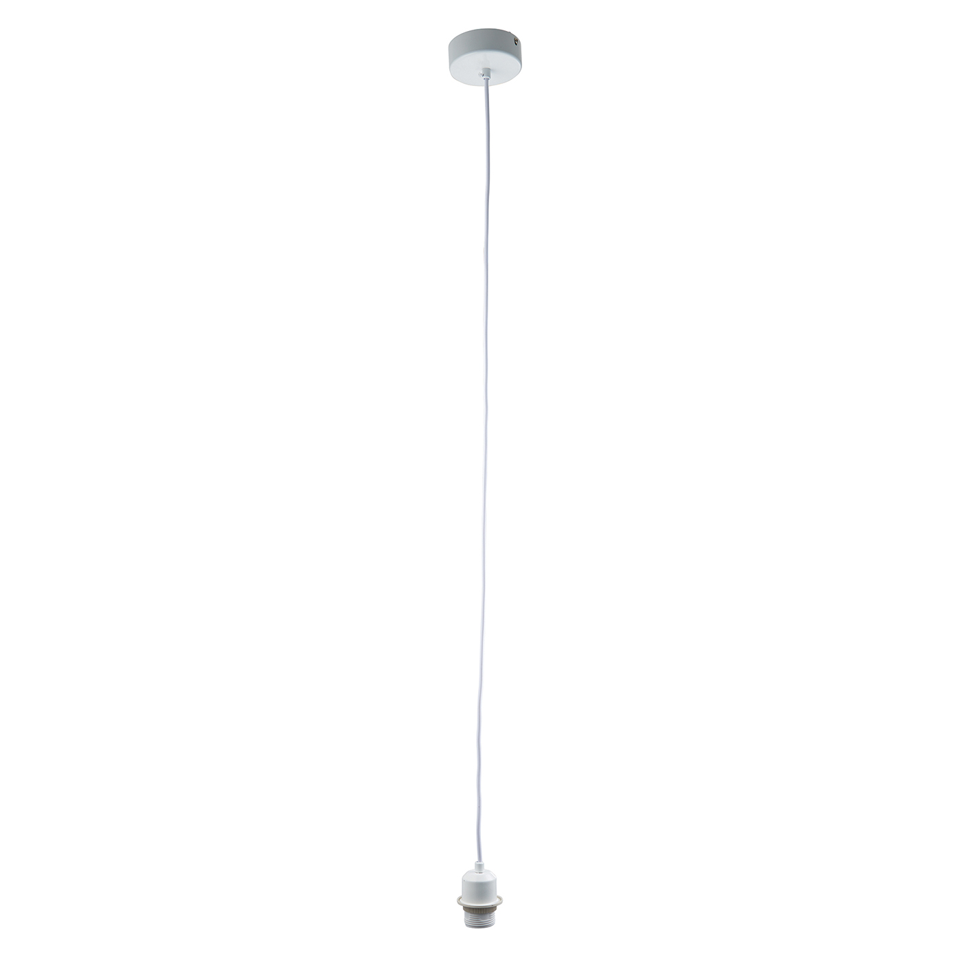 Endon white pendant cable set flex 60W E27 Gloss white