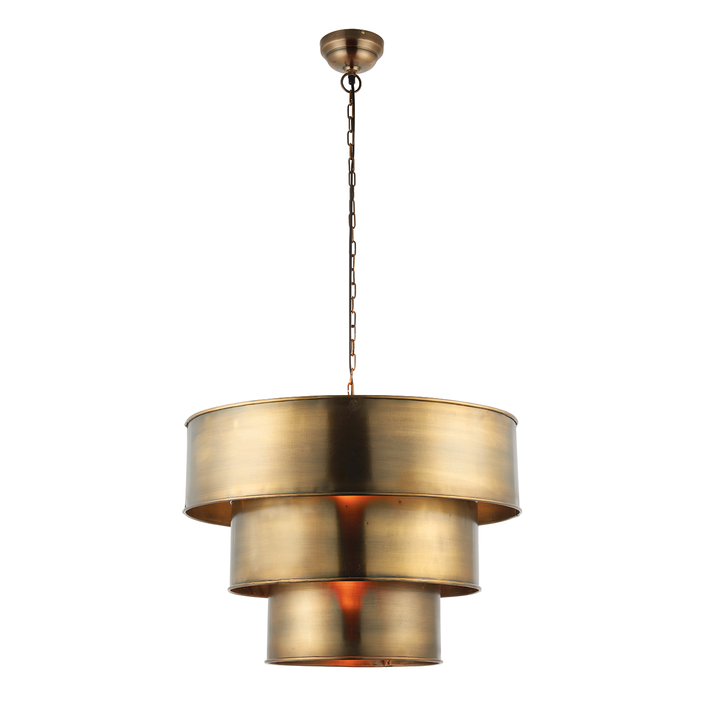 Endon Morad pendant 1x 40W Aged brass effect plate