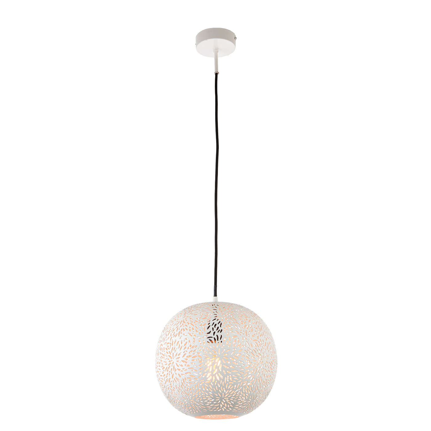 Endon Javarone pendant 1x 40W Matt white paint