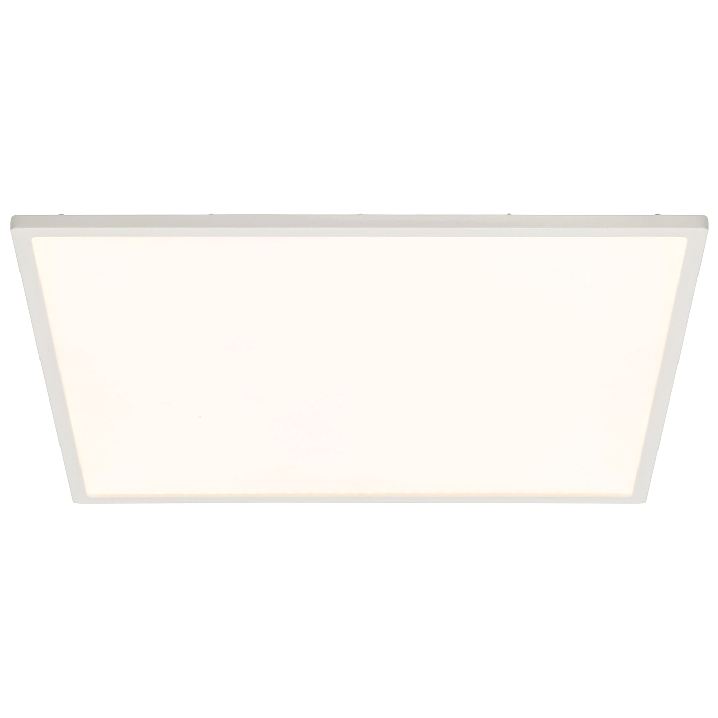 Endon Ceres 450mm square flush ceiling light 30W Gloss white & opal ps plastic Thumbnail 1