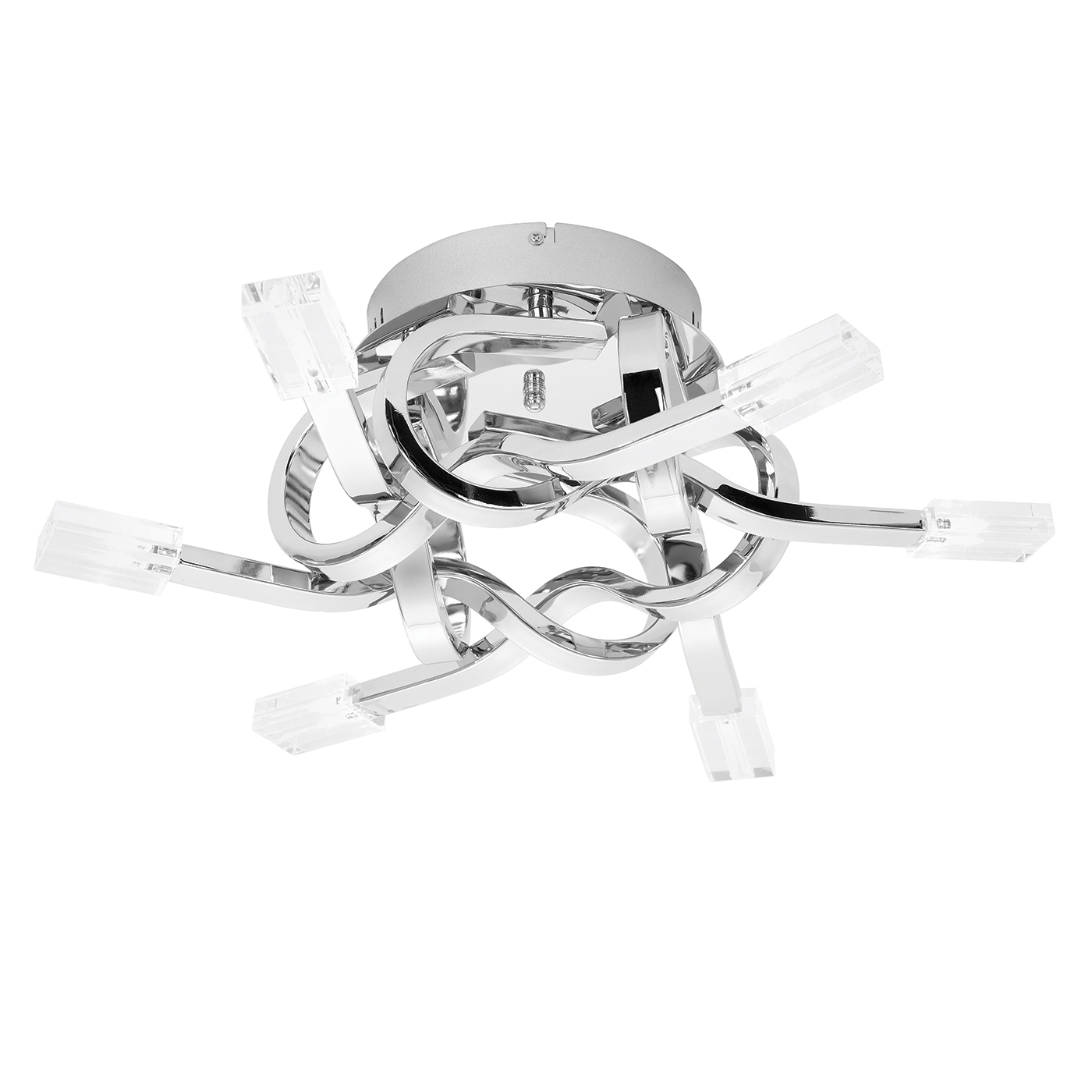 Endon Leoni ceiling light 6x 10W Chrome effect plate & clear glass