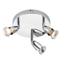 Endon Amalfi ceiling spotlight round 3x 50W Chrome effect plate