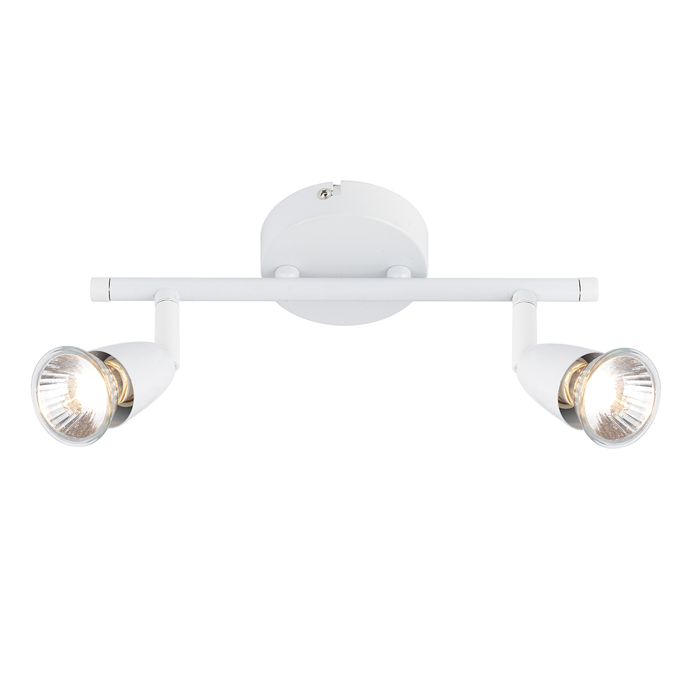 Endon Amalfi ceiling spotlight bar 2x 50W Gloss white Thumbnail 1
