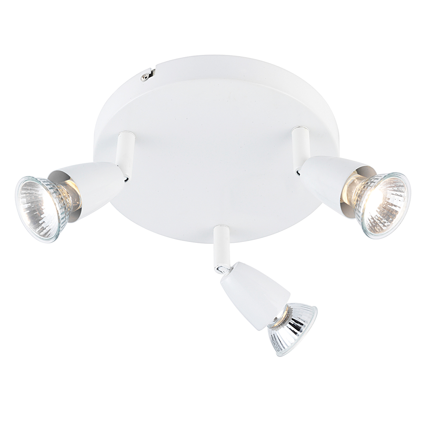 Endon Amalfi ceiling spotlight round 3x 50W Gloss white Thumbnail 1