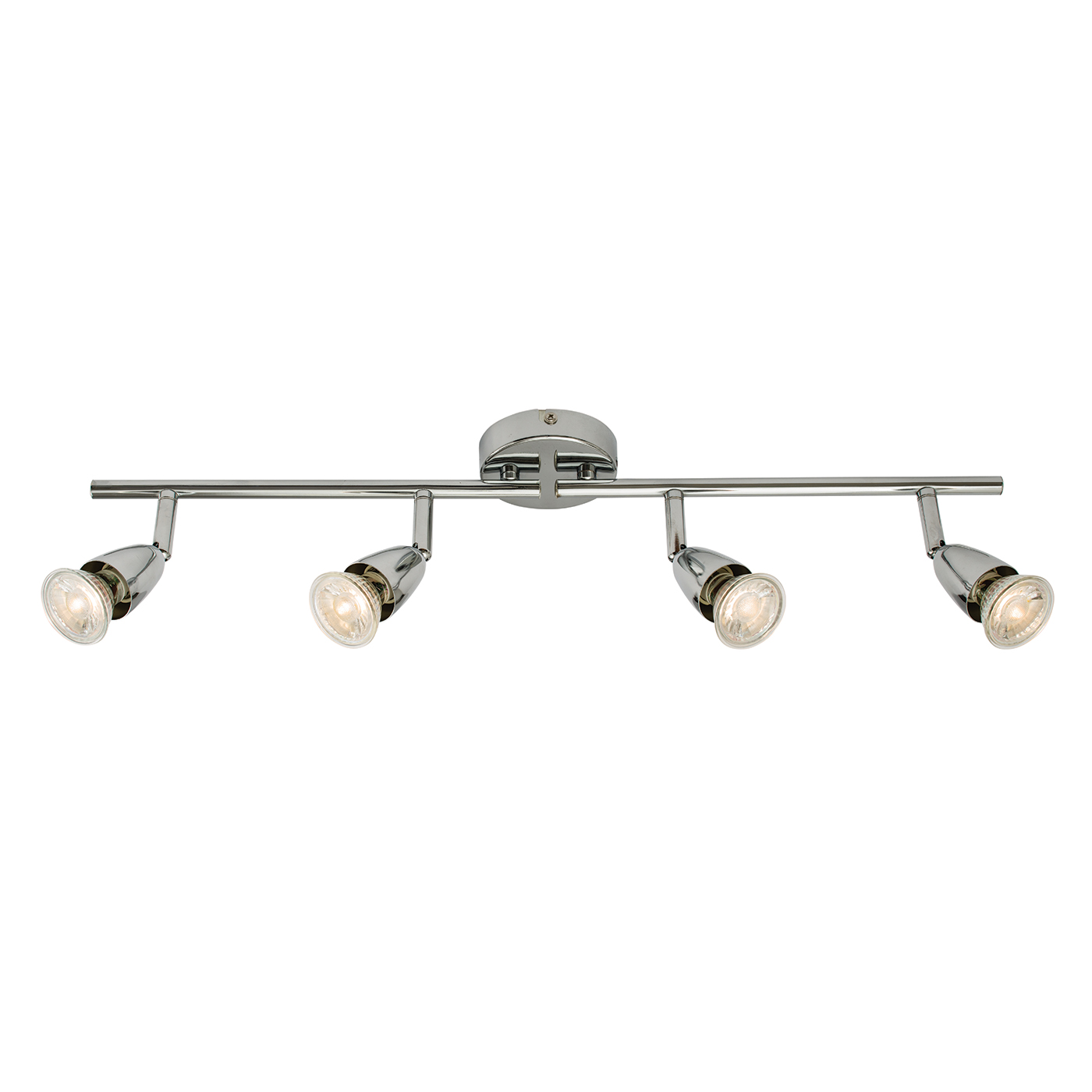 Endon Amalfi ceiling spotlight bar 4x 50W Chrome effect plate Thumbnail 1