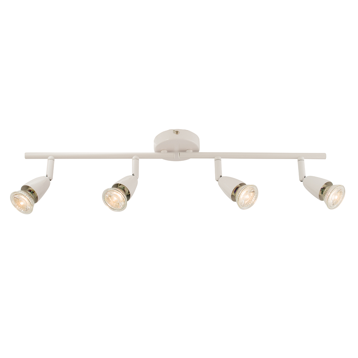Endon Amalfi ceiling spotlight bar 4x 50W Gloss white