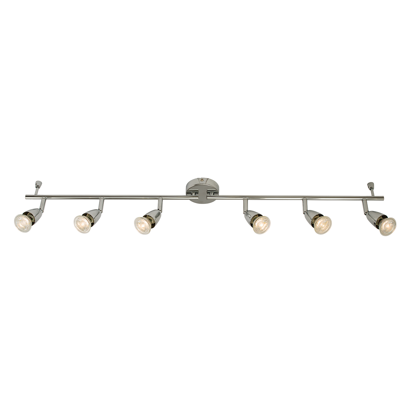 Endon Amalfi ceiling spotlight bar 6x 50W Chrome effect plate Thumbnail 1
