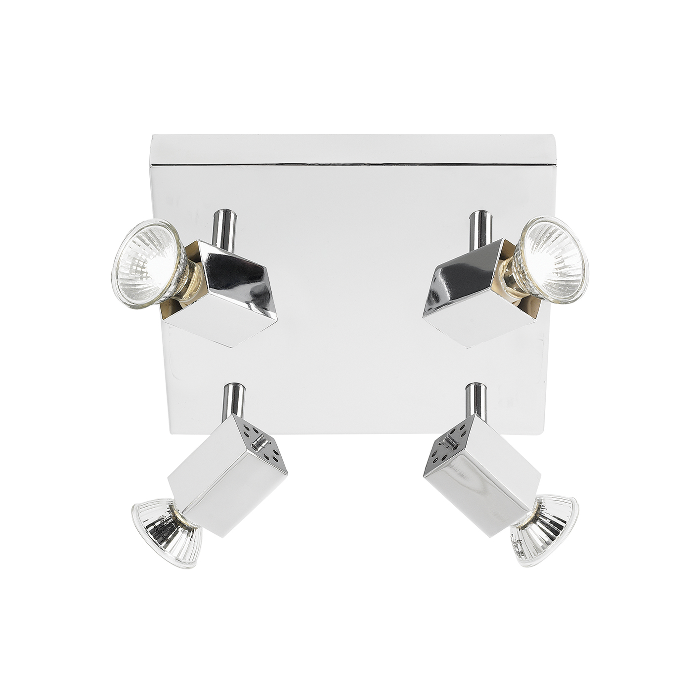 Endon Grove ceiling spotlight square 4x 50W Chrome effect plate