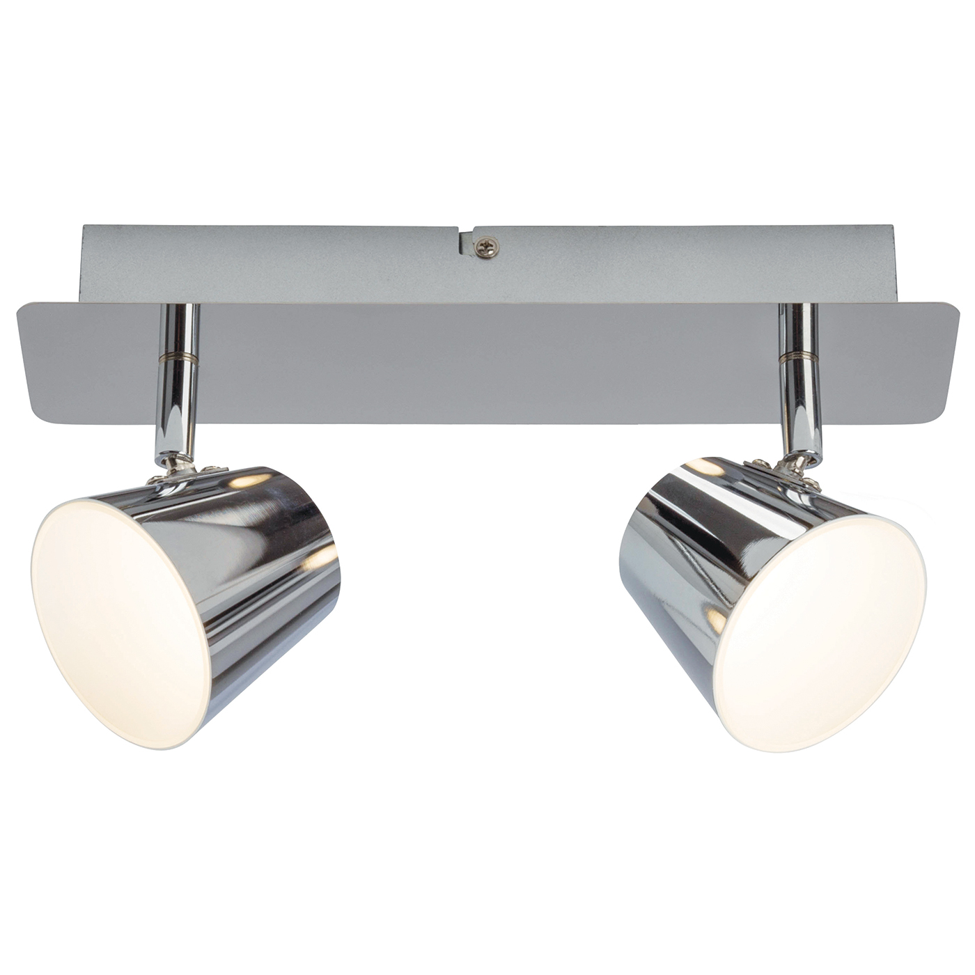 Endon Torsion ceiling spotlight plate 2x 5W Chrome effect plate frosted acrylic Thumbnail 1