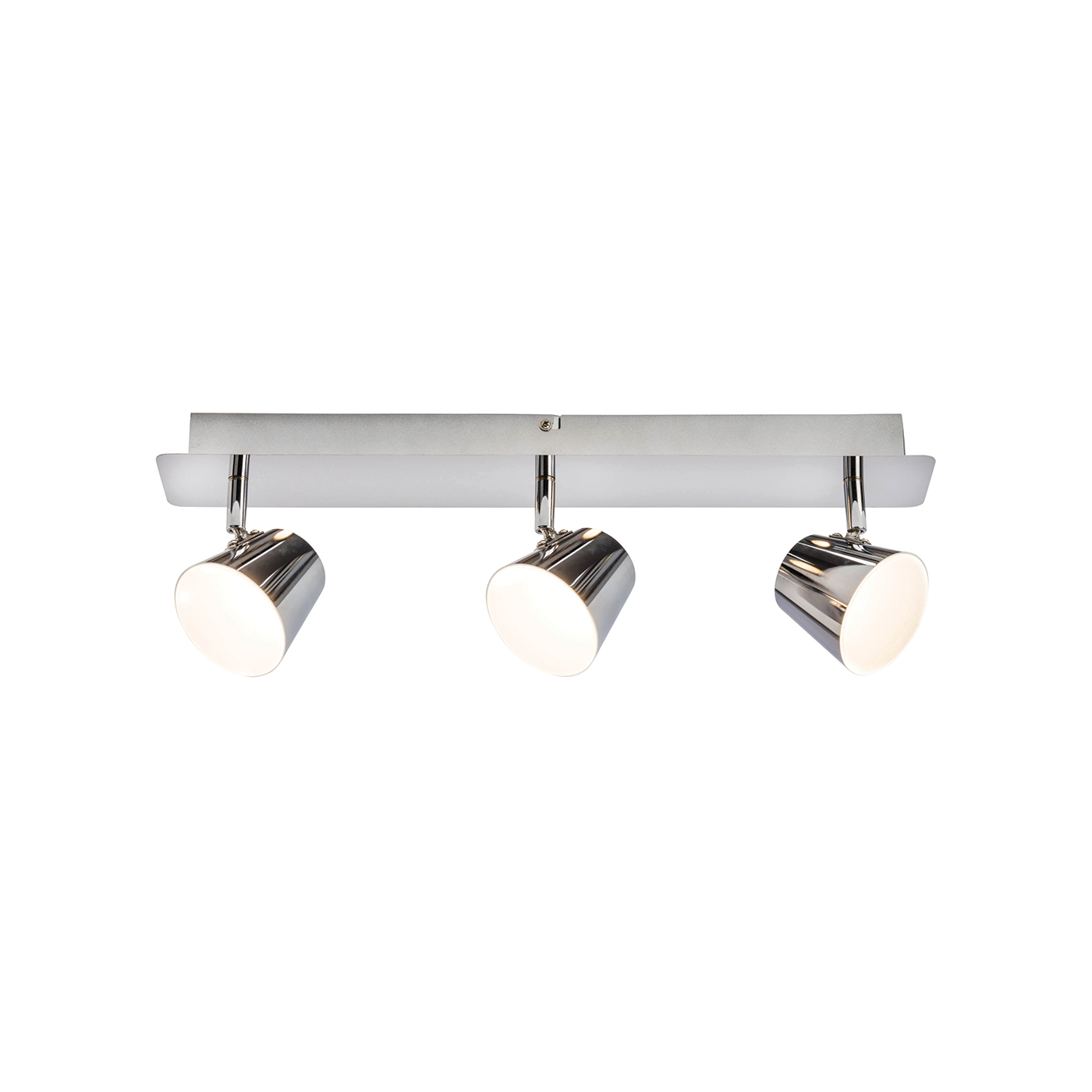 Endon Torsion ceiling spotlight plate 3x 5W Chrome effect plate frosted acrylic