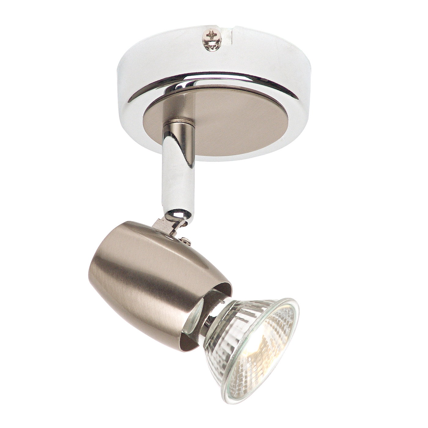Endon Palermo ceiling spotlight plate 50W Brushed chrome effect plate Thumbnail 1