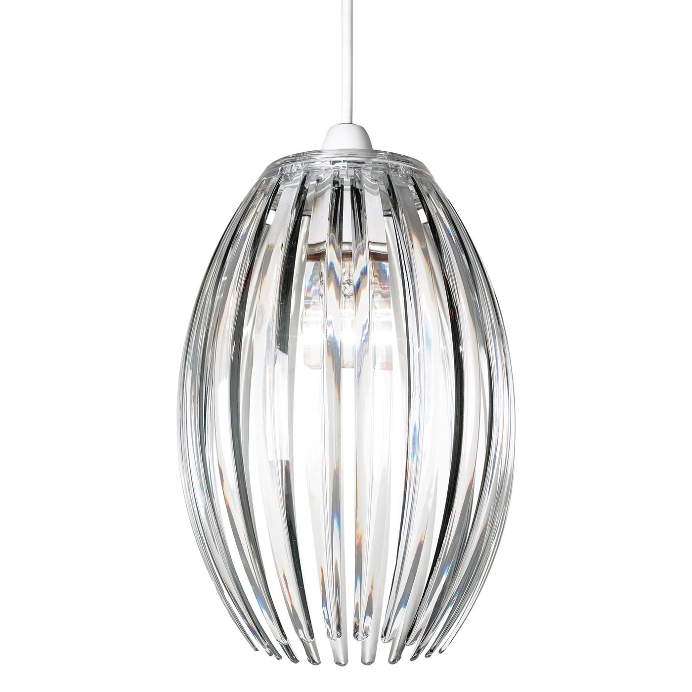 Endon Dorney pendant shade only 60W Clear acrylic Thumbnail 1