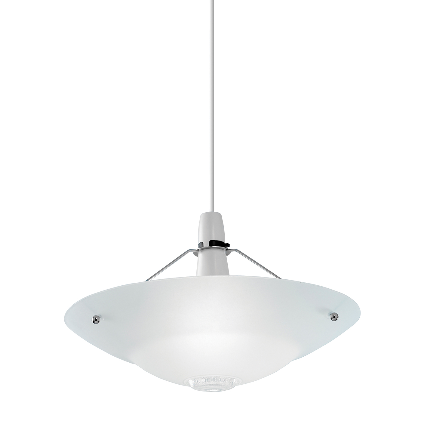 Endon Pisa Pendant Shade Only 60w Clear And Frosted Glass Detail Chrome Effect Liminaires