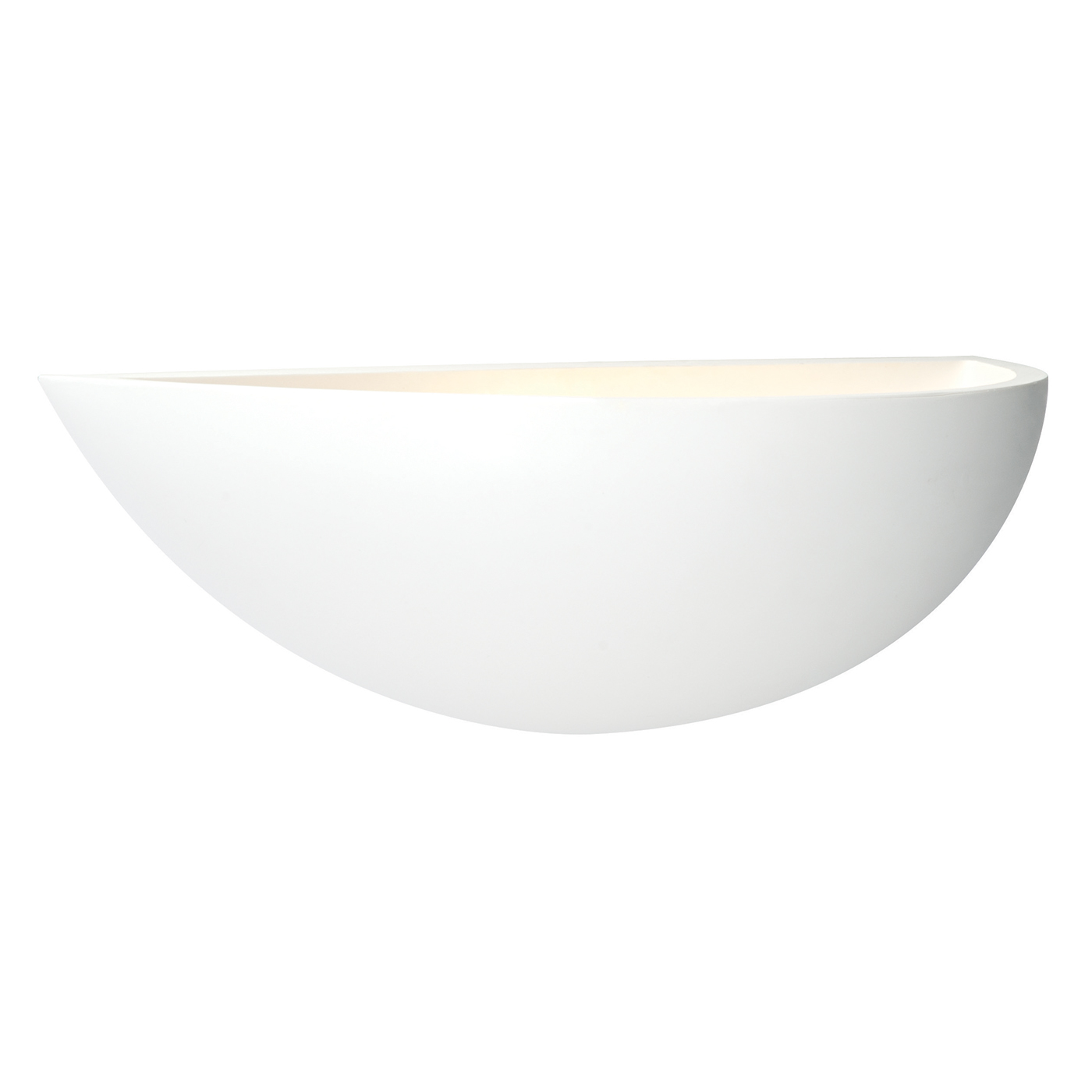Endon Mini crescent 1lt wall uplighter 40W White plaster