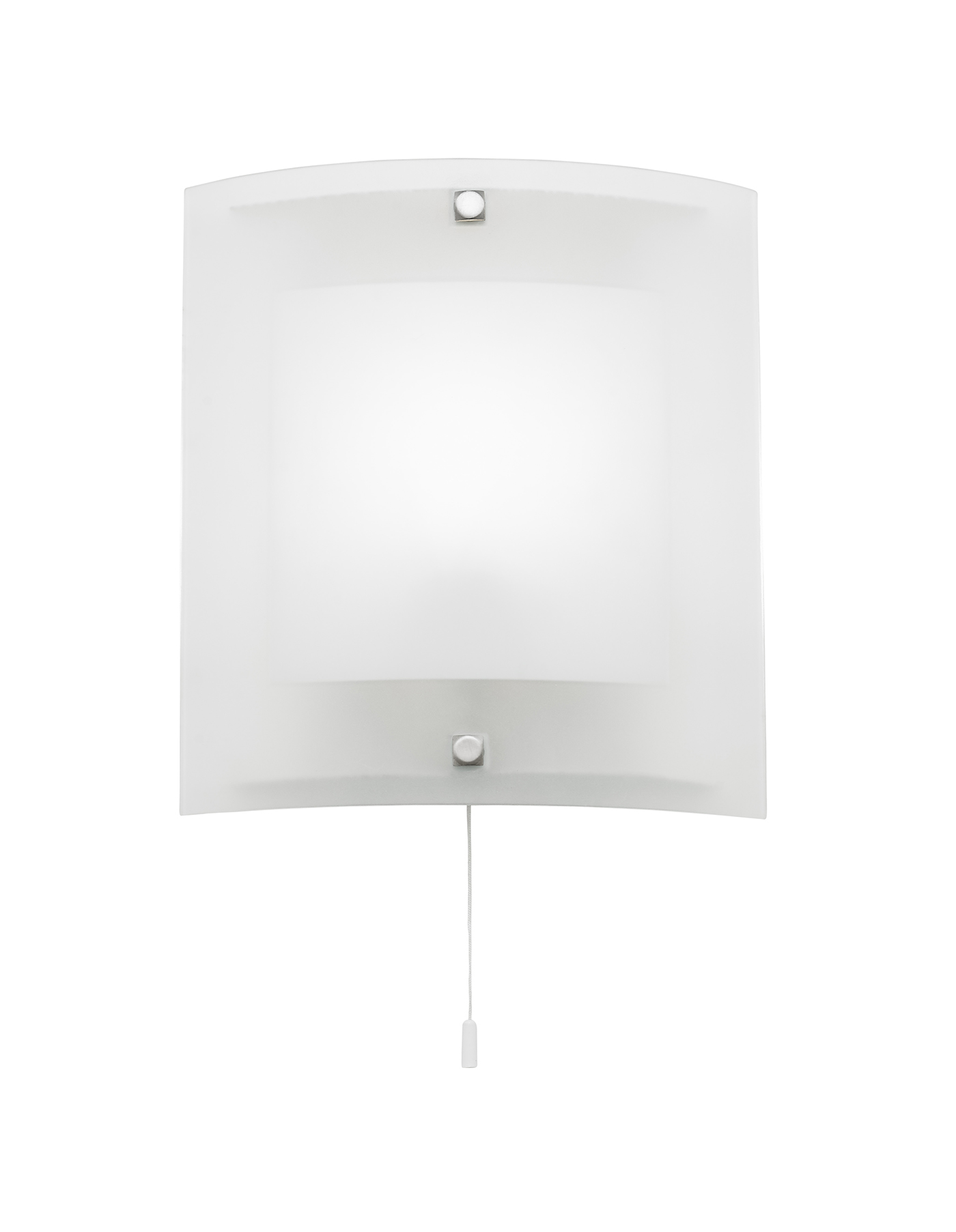 Endon Blake 1lt wall light 60W Clear & frosted glass with chrome effect plate Thumbnail 1