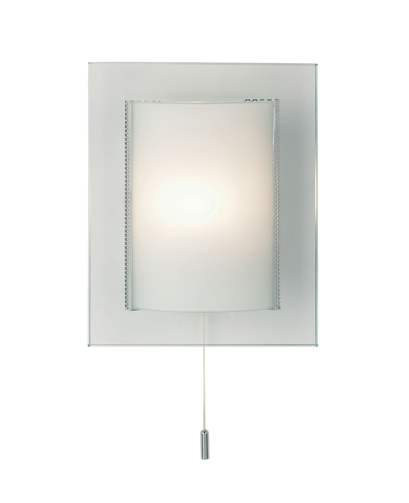 Endon Cabot 1lt wall light 33W Clear & frosted glass