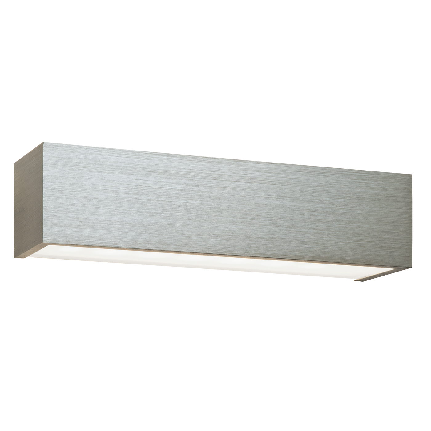 Endon Shale 1lt wall light 8W Brushed silver anodised & frosted glass